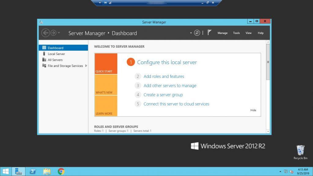 Demo of Remote Desktop Connection