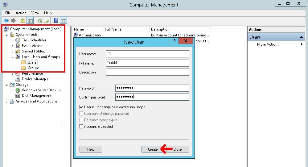 Create rdp user