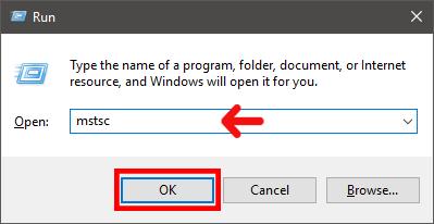 Run Remote desktop Connction
