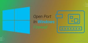open a port on the windows firewall