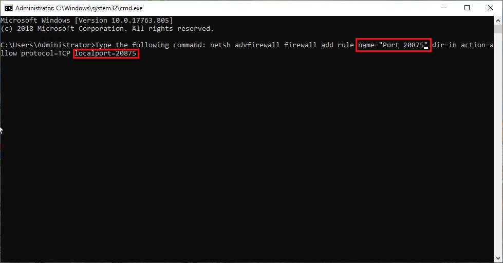 open a port on the Windows VPS firewall through CMD