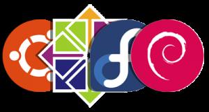 Ubuntu, Centos, Fedora, Debian