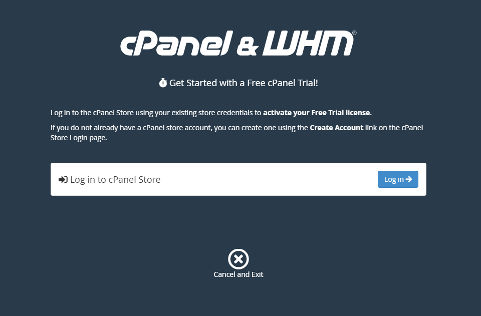 Get started with WHM free 15 days license