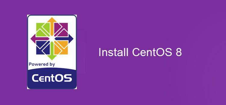 install centos 8 guide