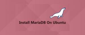 install mariaddb on ubuntu