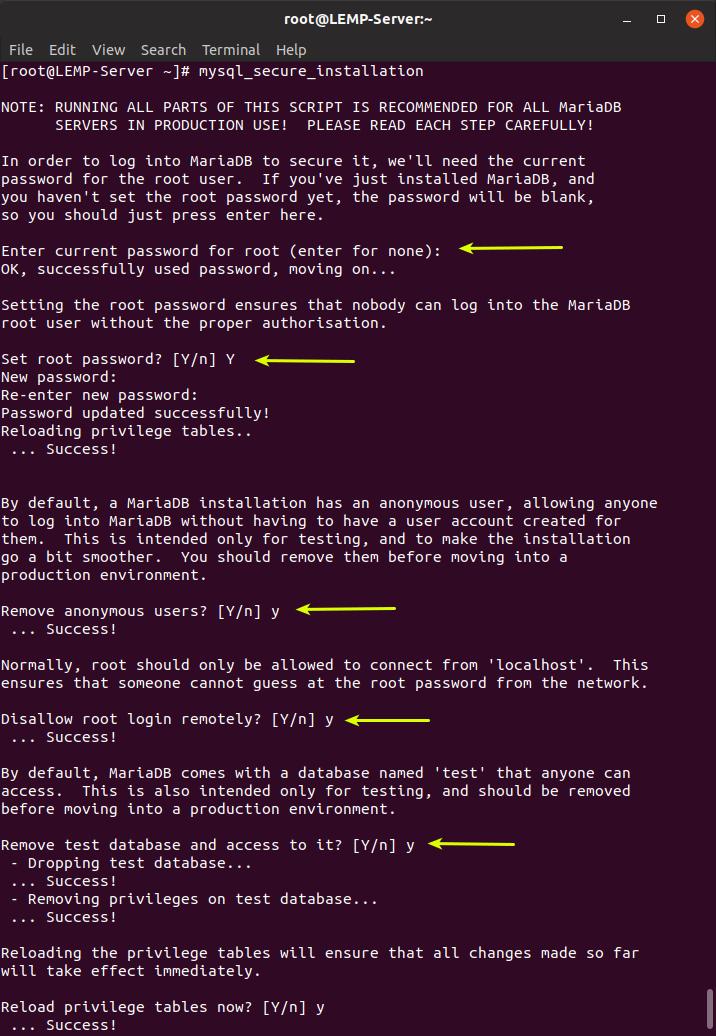 secure MariaDB