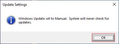 update setting
