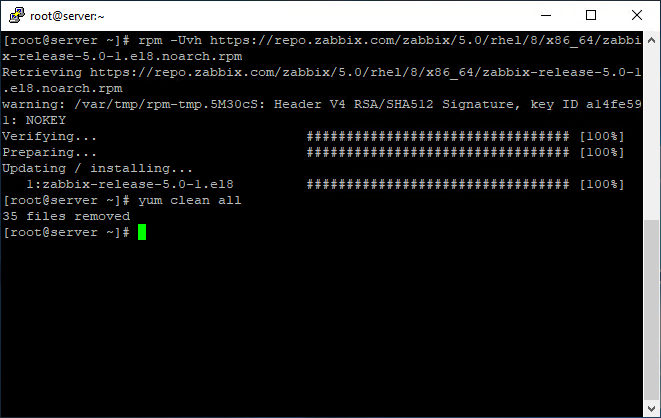 Command to install Zabbix respository