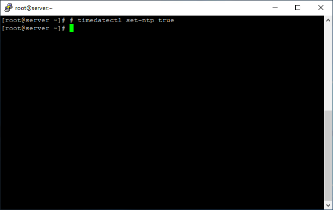Enable synchronization with NTP server in Linux