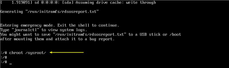 enter the singler user mod to reset the password on centos 8
