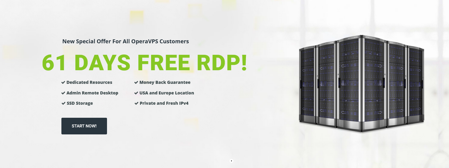 Free RDP, Start with 61 days Trial