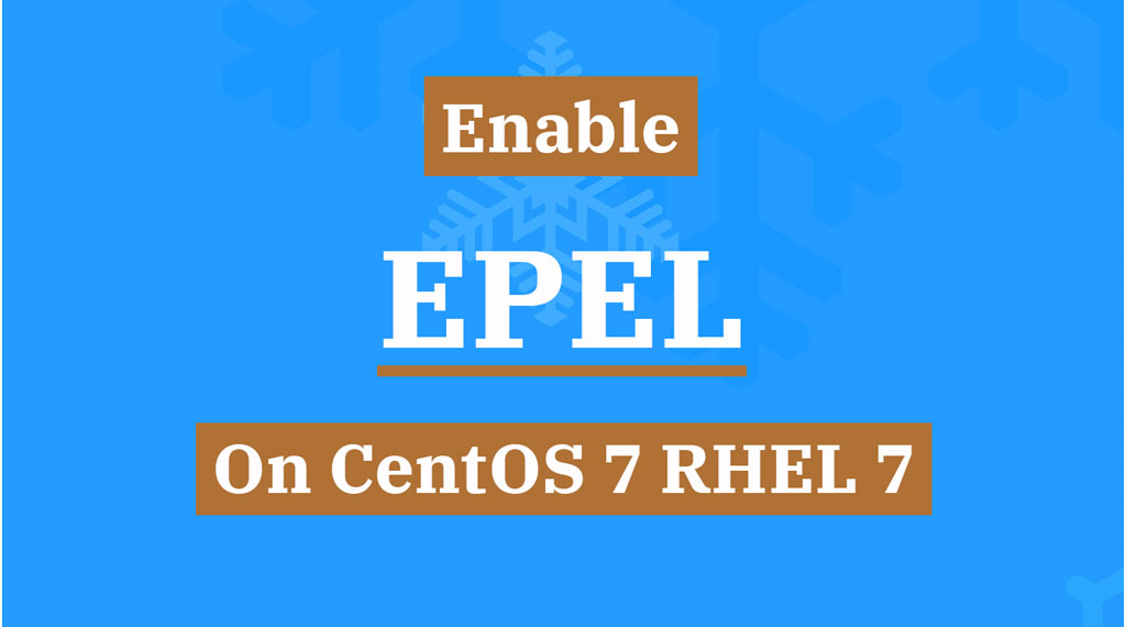 enable EPEL Repository on centos