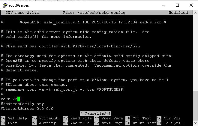 open sshd to change ssh port