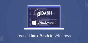 Install Linux Bash In Windows