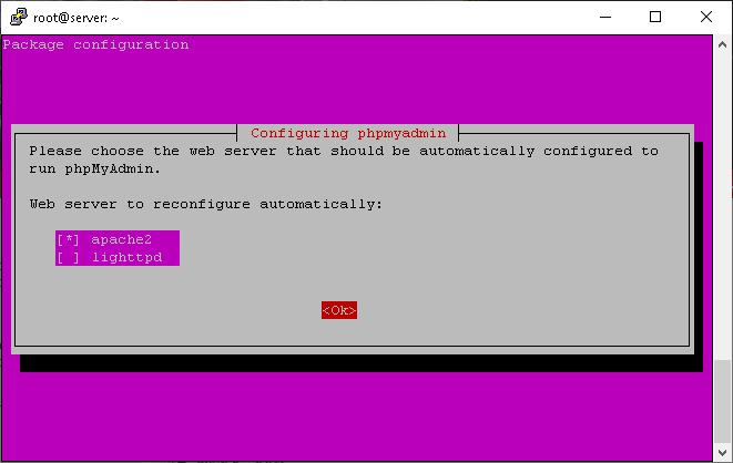install phpmyadmin whn you install lamp on ubuntu 18