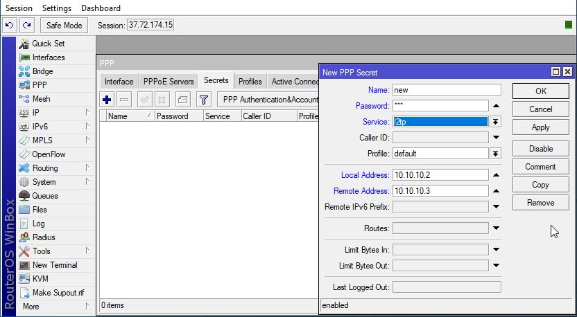 add user after you setup an L2TP VPN server