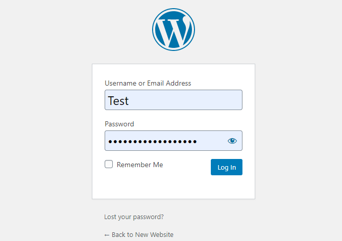 login to WordPress after you install WordPress on ubuntu 18 vps