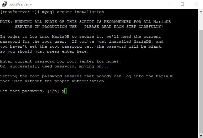 2 mysql secure installation 2