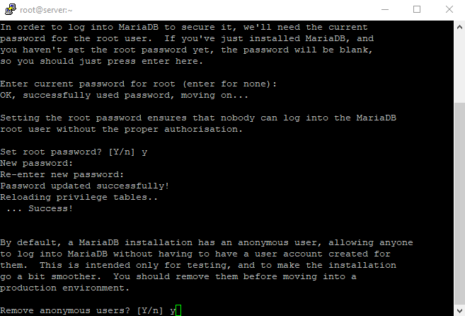 3 mysql secure installation 3