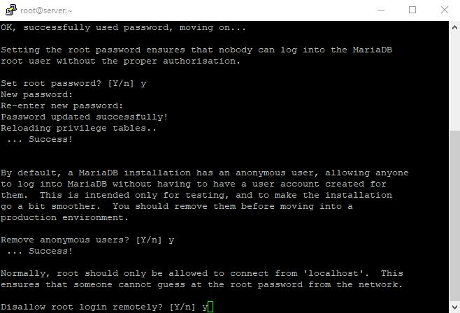 4 mysql secure installation 4