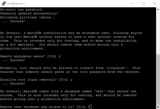 5 mysql secure installation 5
