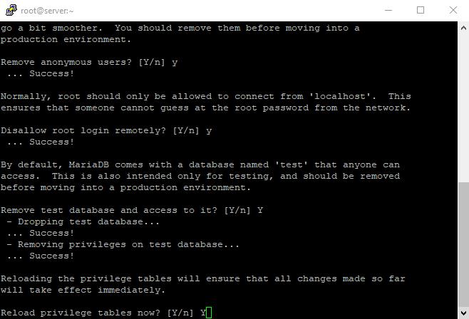 6 mysql secure installation 6