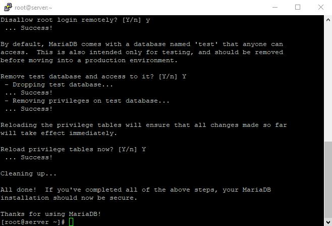 7 mysql secure installation 7