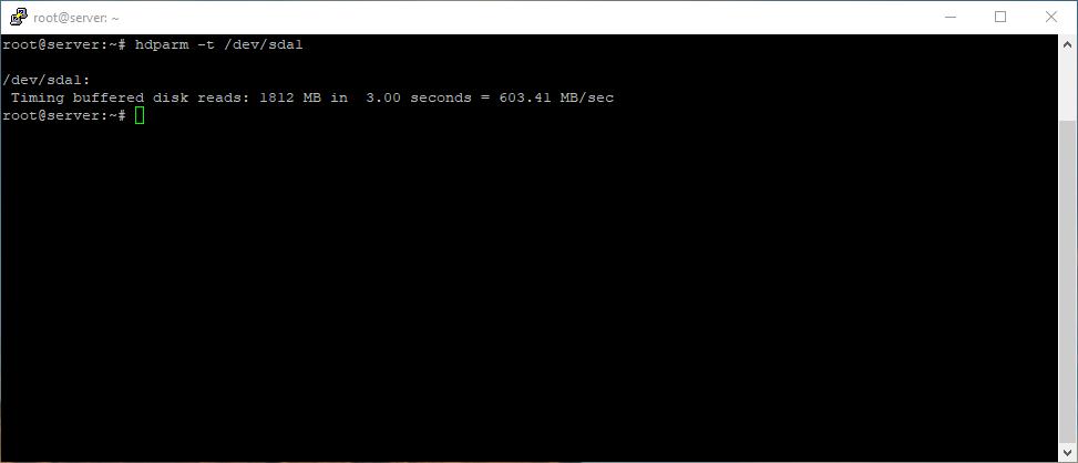 Disk speed test result in Ubuntu 18