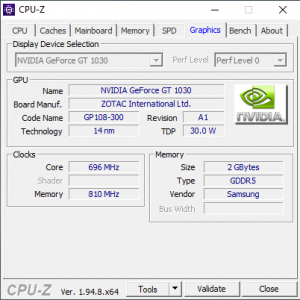get the server's hardware details Graphic in CPU-Z