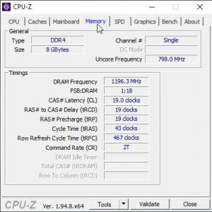 Memmory (RAM) in CPU-Z