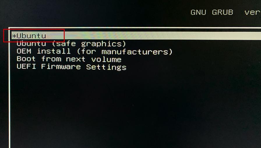 Press Ubuntu to install ubuntu beside windows 10