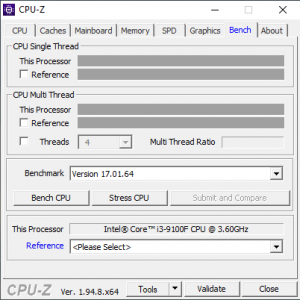Stress CPU in CPU-Z