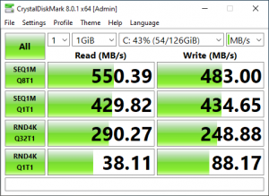 Test disk speed with Crystaldiskmark