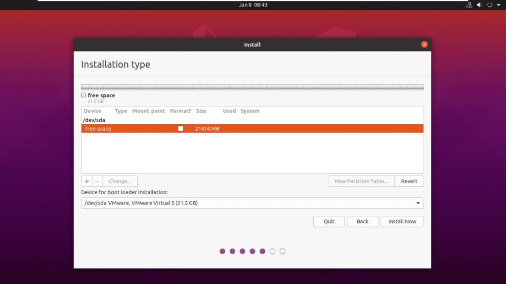 configure disk management when you install ubuntu beside windows 10