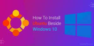 how to install ubuntu beside windows 10