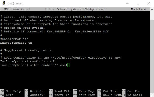 12 virtuall host 7th command nano config files 2