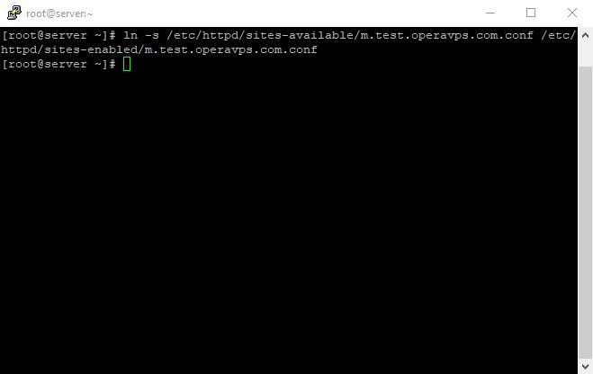 17 virtuall host 9th command create a symbolic link