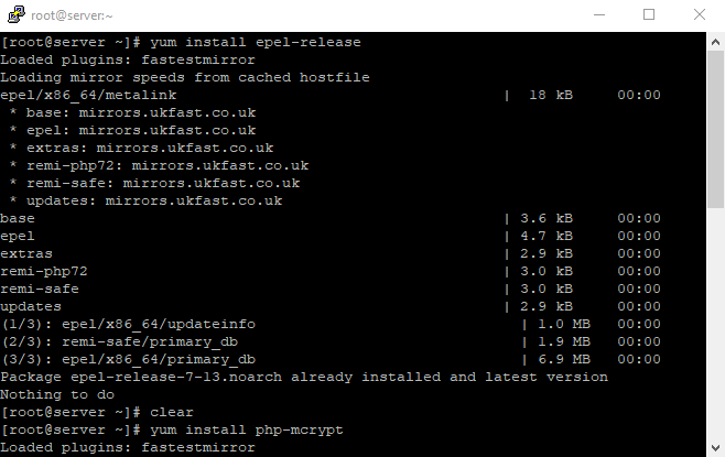 2 yum install php mcrypt enter