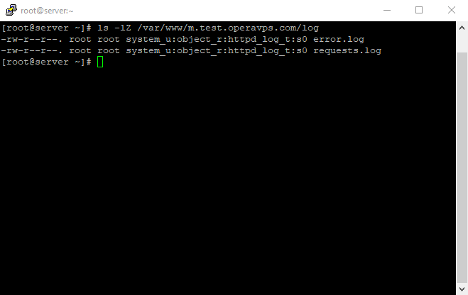 25 Apache was able to create the error.log and requests.log