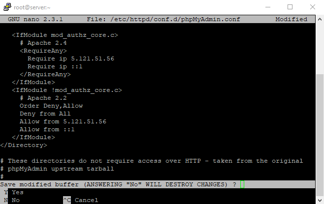 3 change directory home ip confirming