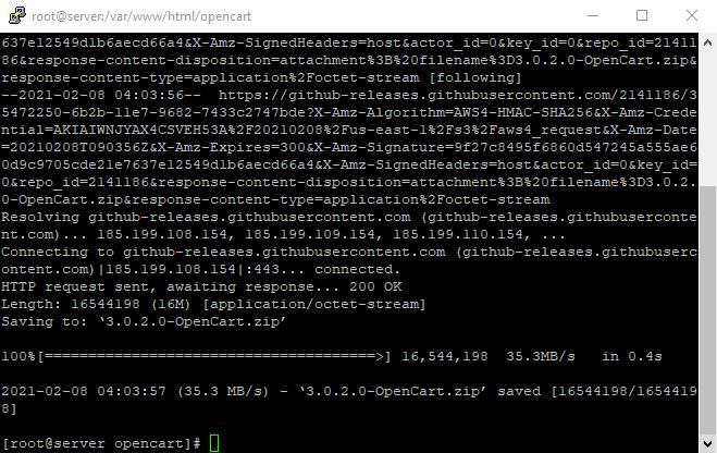 5opencart 3.0.2.0 downlaod finished