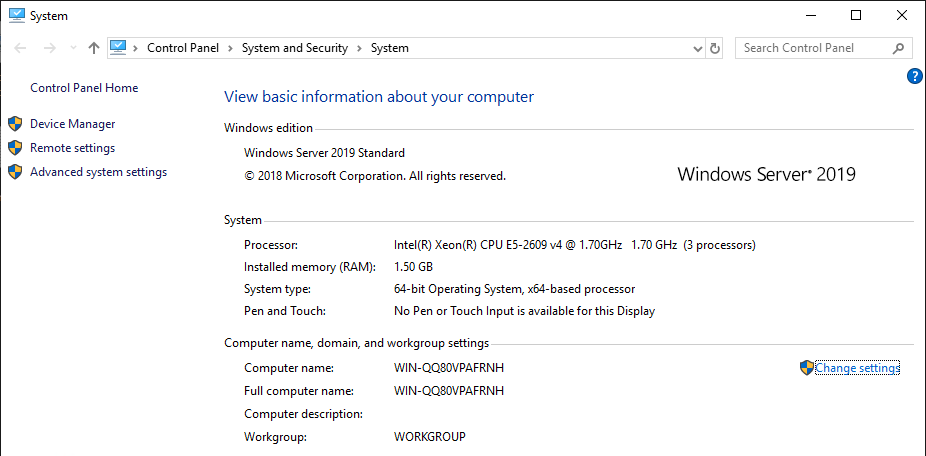 Windows System Info Section