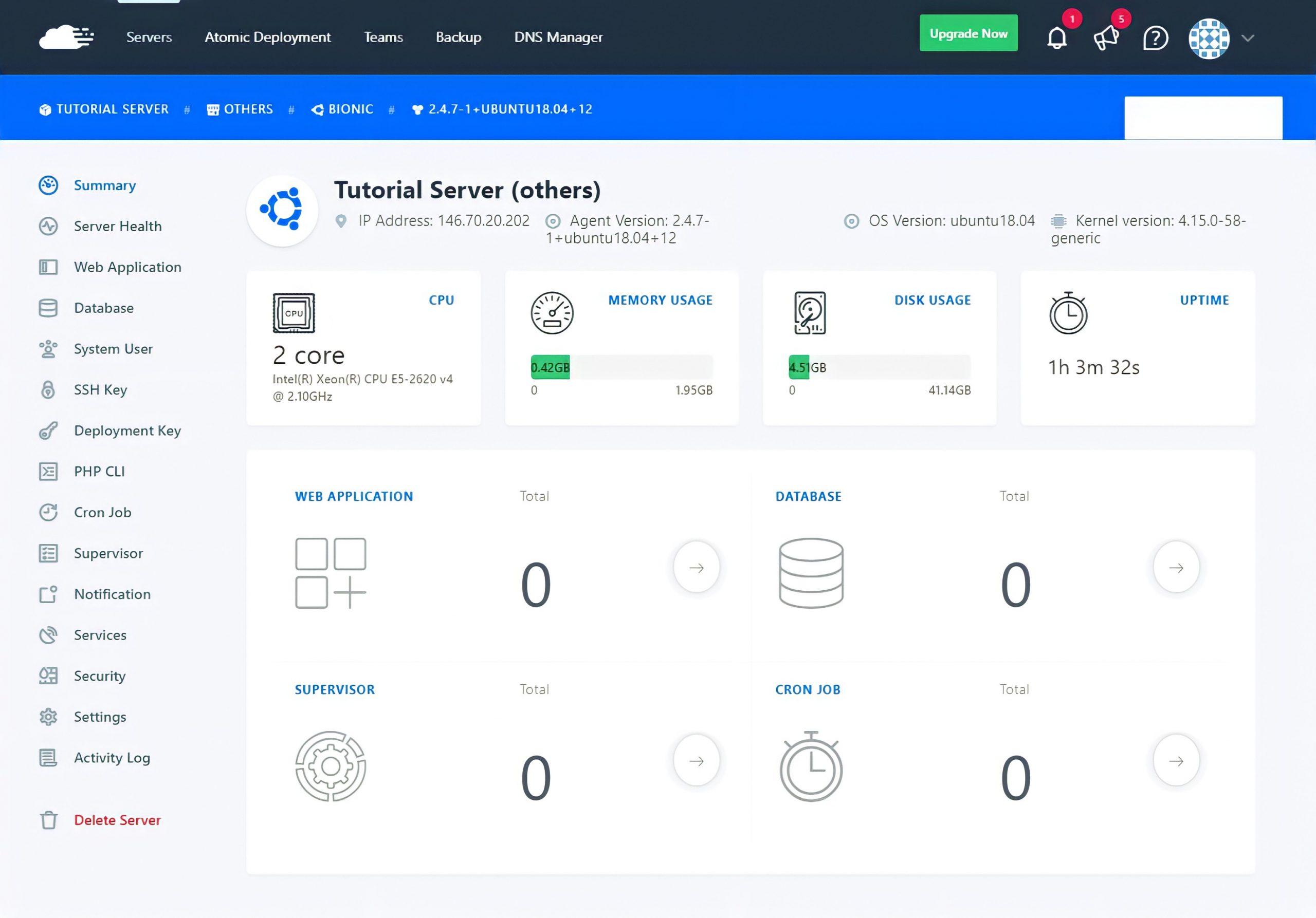 10 RunCloud Server Environment 1 scaled
