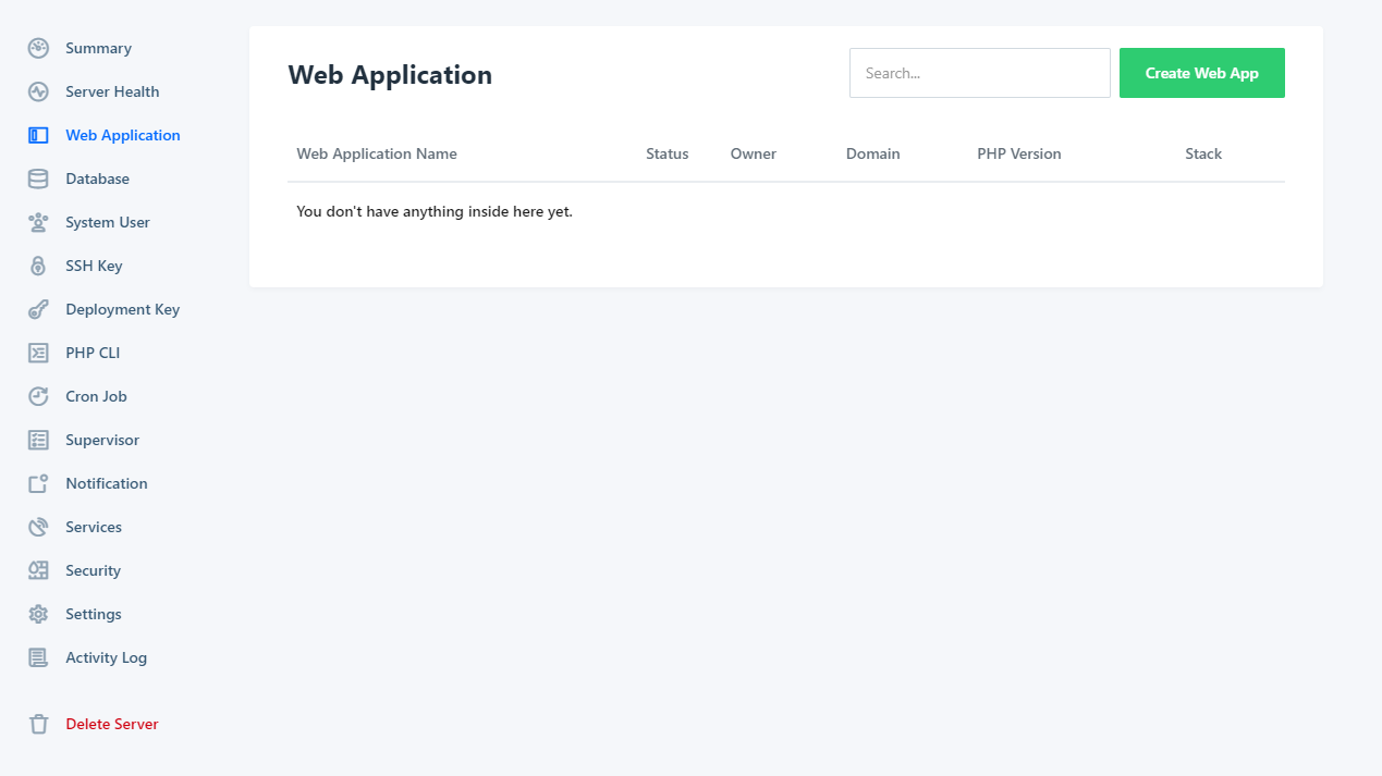 11 RunCloud Web Application