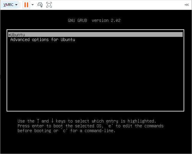 Grub menu in ubuntu