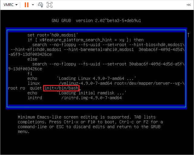 edit grub menu in Debian
