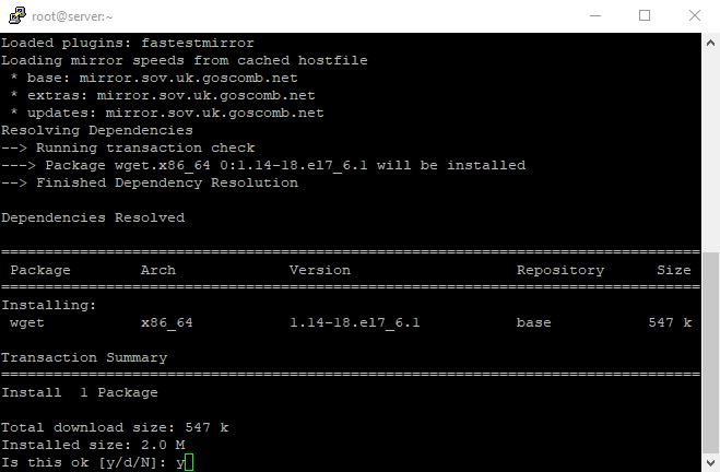 2 Install wget using putty ssh