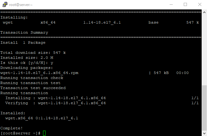 3 Install wget using putty ssh