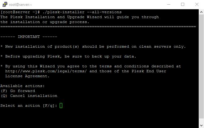 3 Plesk installer all versions on Linux VPS 1
