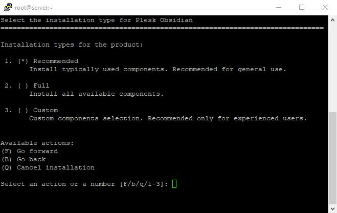 6 Plesk installation type on Linux VPS